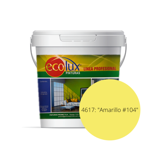 ECOLUX-LATEX INT/EXT AMARILLO 104 3.6 LT 461736