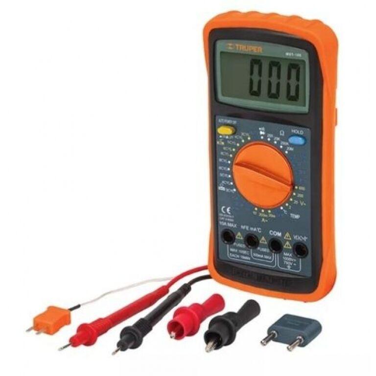 TESTER ELECTRICIDAD TRUPER AUTOS DIGITAL MUT 105
