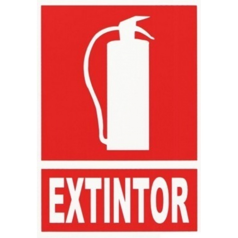 EXTINGUIDOR INCENDIO CARTEL EXTINTOR 5MT 20X15