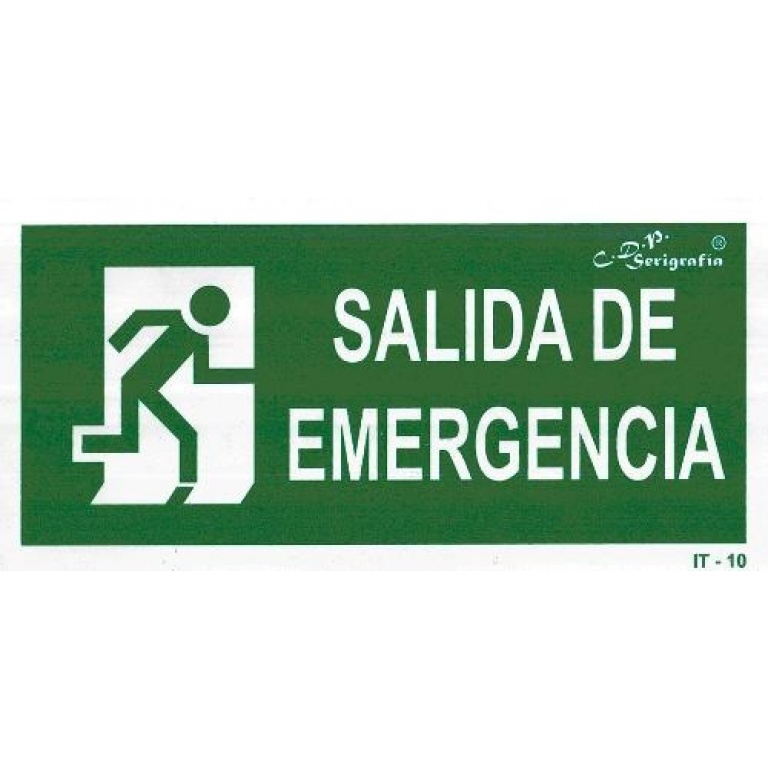 EXTINGUIDOR INCENDIO CARTEL SALIDA EMERGENCIA 30X15