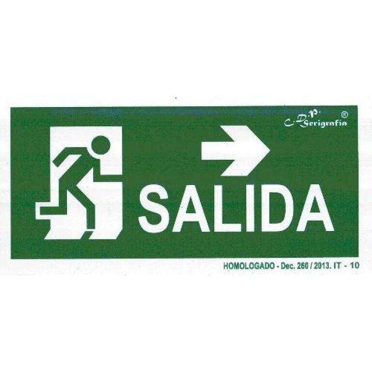 EXTINGUIDOR INCENDIO CARTEL SALIDA FLECHA DER 15X30