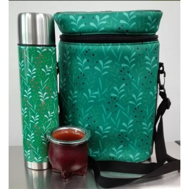 Termo ,  Mate Ceramica Y Matera Diseño Verde Herracor