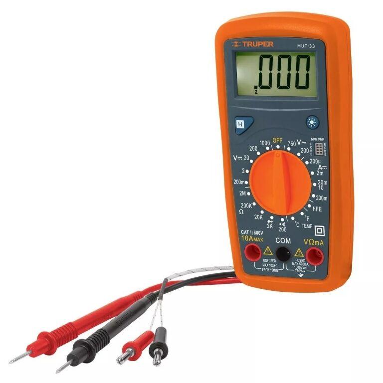 TESTER ELECTRICIDAD TRUPER DIGITAL MUT 33