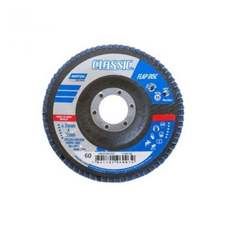 DISCO FLAP P/METAL IMPORTADO 4'1/2 -GRANO 60 NORTON