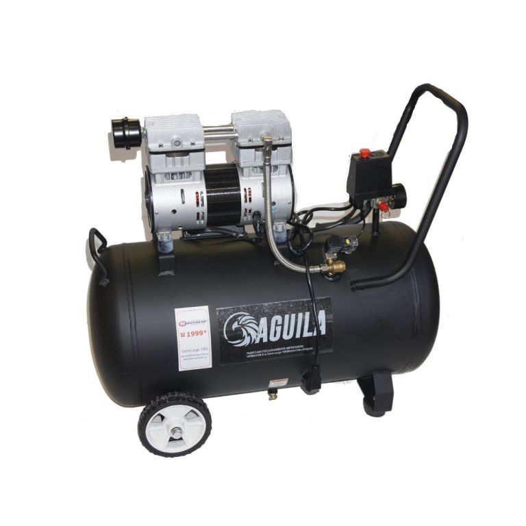 COMPRESOR AGUILA SIN ACEITE 0.75 HP 50 LTS