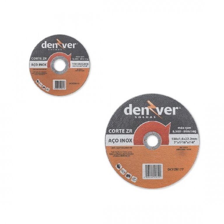 DISCO CORTE METAL ACERO INOX. 4 1/2 X 1 X 22 DENVER ZR