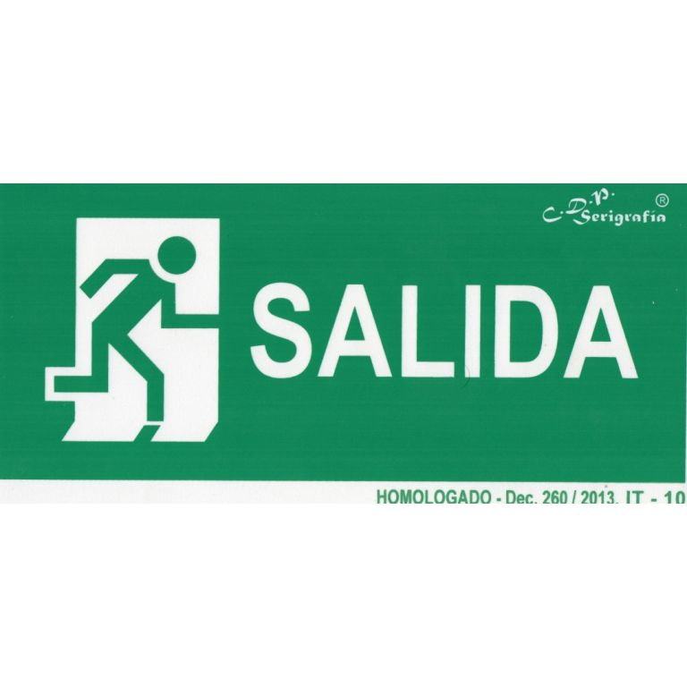 EXTINGUIDOR INCENDIO CARTEL SALIDA 30X15