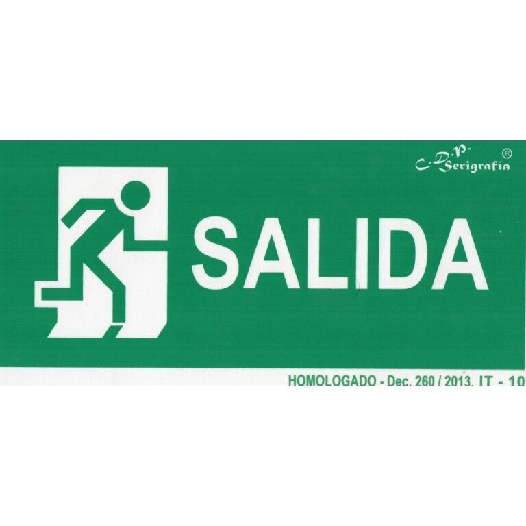 EXTINGUIDOR INCENDIO CARTEL SALIDA 30X15