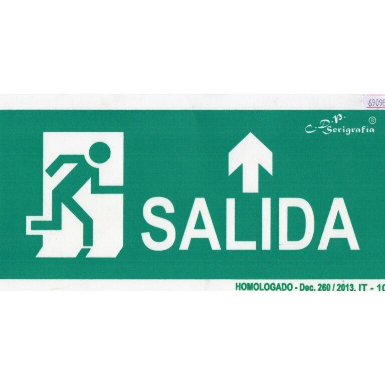 EXTINGUIDOR INCENDIO CARTEL SALIDA FLECHA ARR 15X30
