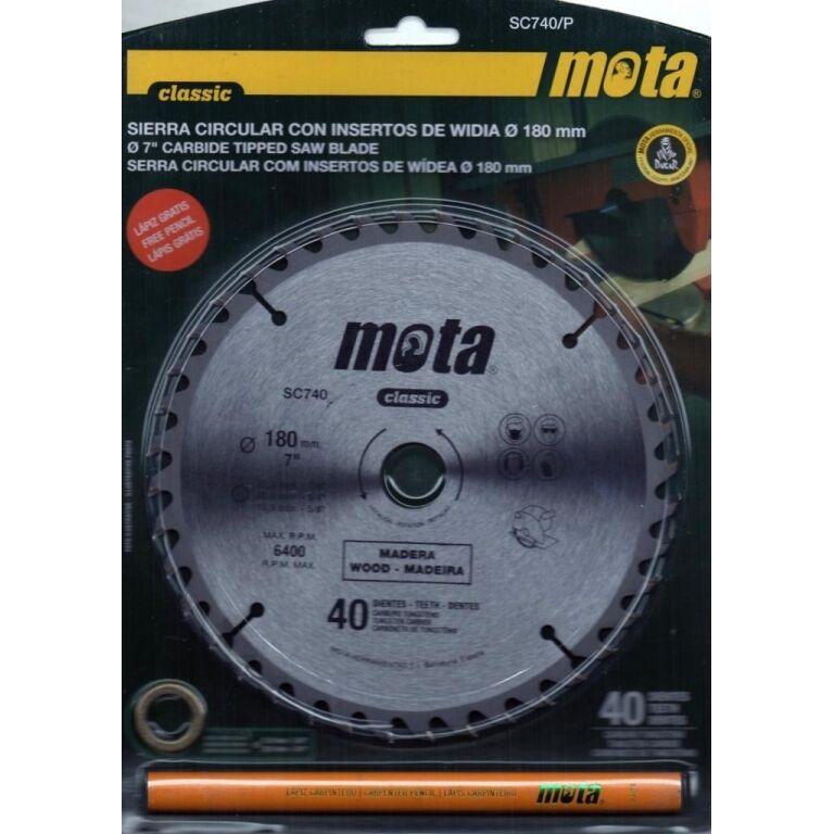 SIERRA P/MADERA C/WIDIA 7 1/4 X 40D P/ARGENTEC