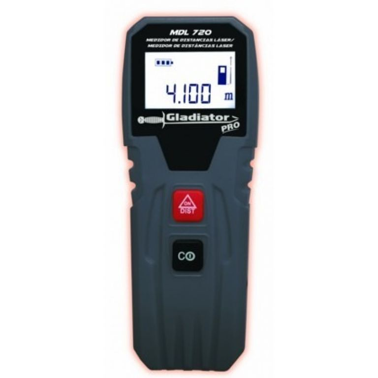 MEDIDOR DE DISTANCIA DIGITAL 20 MTS C/LASER GLAD MDL 720