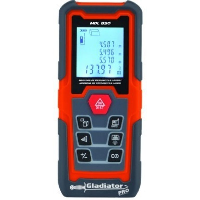 MEDIDOR DE DISTANCIA DIGITAL 50 MTS C/LASER GLAD MDL 850