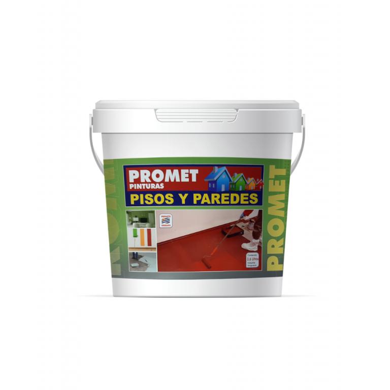 PROMET-P/PISOS Y PAREDES NEGRO 1 LT 61021