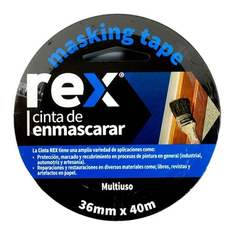 CINTA CREPE IMPORTADA 36 MM X 40 MTS REX REX30404