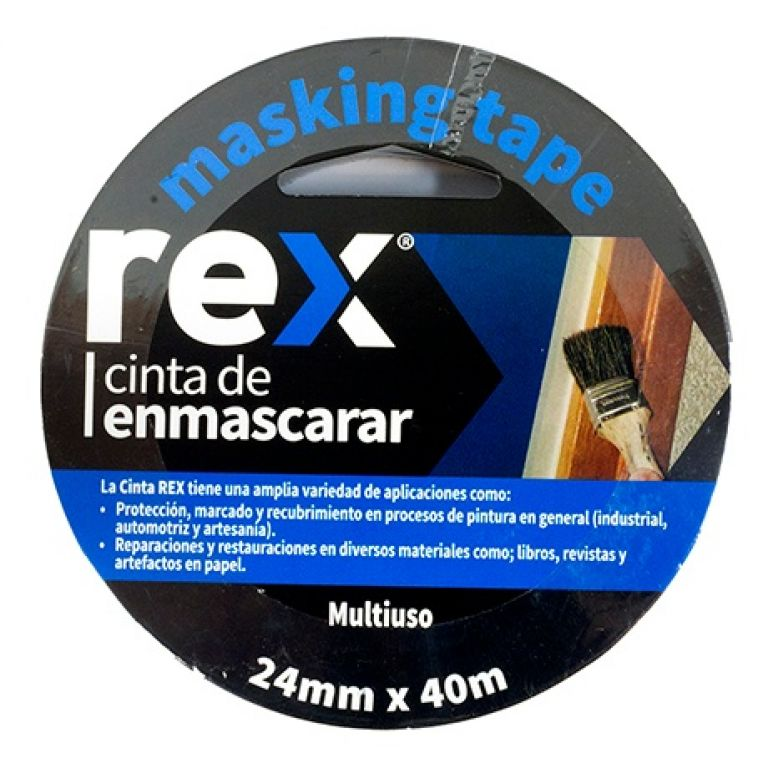 CINTA CREPE IMPORTADA 24 MM X 40 MTS REX REX30403